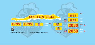 Union Pacific GP60 Cotton Belt Patch HO Scale Decals