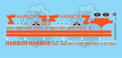 Indiana Harbor Belt GP38-2 SD20 SD38-2 HO Scale Decal Set