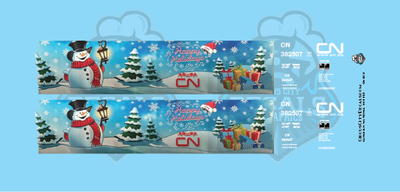Canadian National CN Holiday Hopper HO Scale Decal Set
