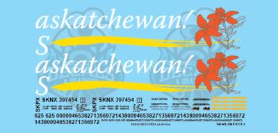 Saskatchewan! Grain Hopper SKNX SKPX Decal Set S Scale