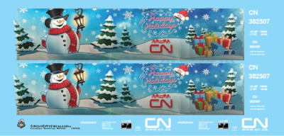 Canadian National CN Holiday Hopper S Scale Decal Set