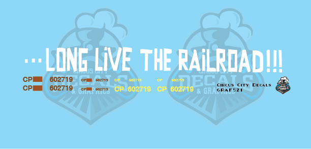 CP 602719 Government of Canada Cylindrical Hopper Long Live the Railroad Graffiti S Scale