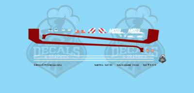 Metra METX Milwaukee Road MP36 #405 N Scale Decal Set
