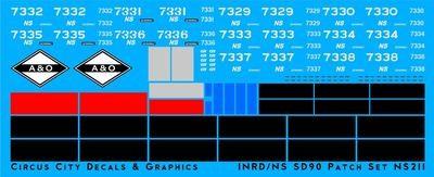 Norfolk Southern CIT Indiana SD90 Patch Set HO Scale