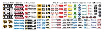 Service Vehicle MOW Door Logos  HO Scale Vehicles