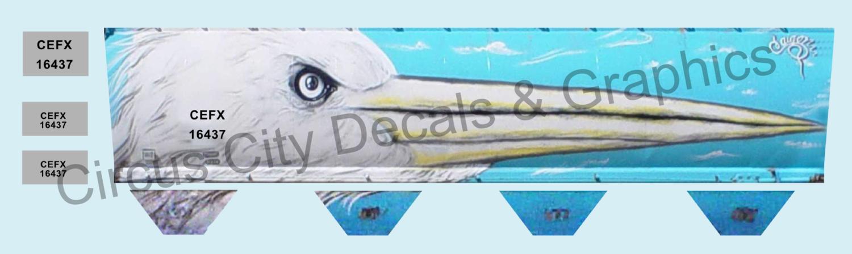 Egret Graffiti CEFX 16437 HO Scale Intermountain