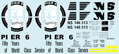 Norfolk Southern Pier 6 HO scale Hopper Decals