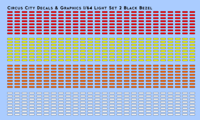 Vehicle Light Set 2 with Black Bezels 1/64 Scale