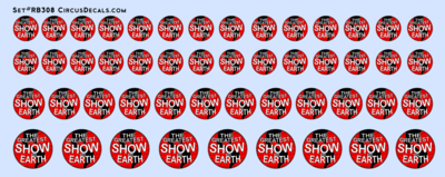 RB308 Ringling Bros. & Barnum Bailey RBBB Circus Globe Decals O Scale