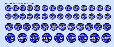 RB307 Ringling Bros. & Barnum Bailey RBBB Circus Globe Decals O Scale