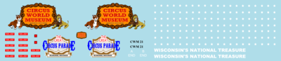 Circus World Museum Caboose Decals HO Scale