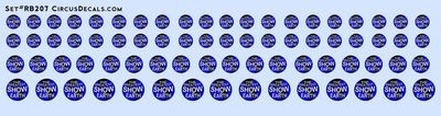 RB207 Ringling Bros. & Barnum Bailey RBBB Circus Globe Decals HO Scale