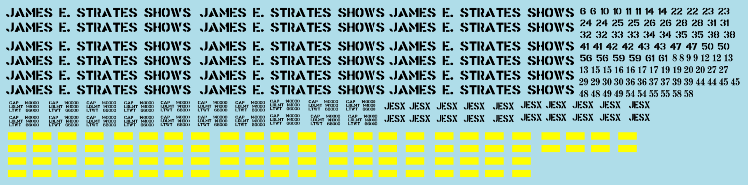 Strates Shows Flat Car Decal Set HO Scale