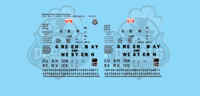 Green Bay & Western 50' FMC 16000 Series Boxcar HO Scale