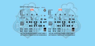 Green Bay & Western 50' FMC 7000 Series Boxcar HO Scale