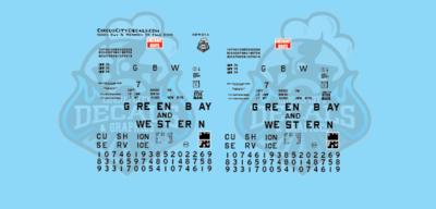 Green Bay & Western 50' Plug Door 7200-7400 Series Boxcar HO Scale