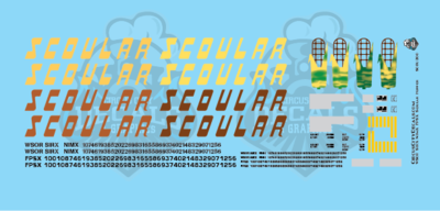 Scoular 59' Cylindrical Hopper WSOR SIRX NIMX FPSX HO Scale