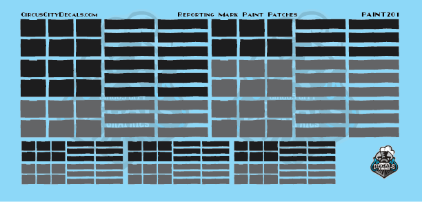Reporting Mark Paint Patch Set Black Gray HO Scale