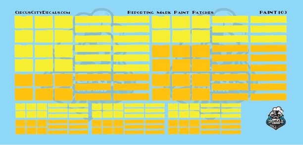 Reporting Mark Paint Patch Set Yellow N Scale