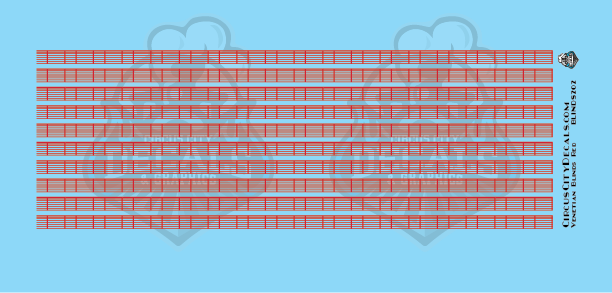 Venetian Blinds Red HO Scale