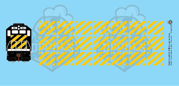 EMD Chevrons GP SD Dark Yellow BN Style HO Scale Decals