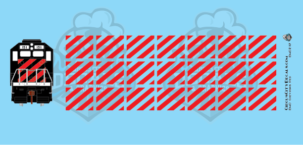 EMD Chevrons GP SD Red BN Style HO Scale Decals