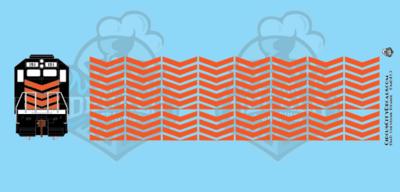 EMD Chevrons GP SD Orange Style 3 HO Scale Decals