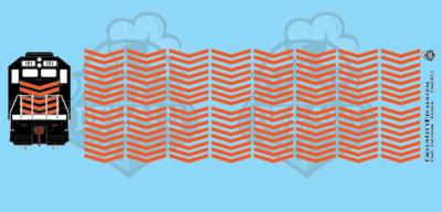 EMD Chevrons GP SD Orange Style 5 HO Scale Decals