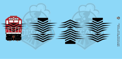 EMD Chevrons GP SD Black Style 7 HO Scale Decals