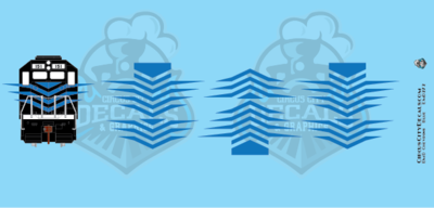 EMD Chevrons GP SD Blue Style 7 HO Scale Decals