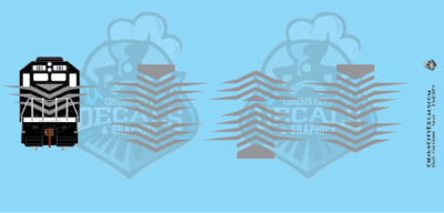 EMD Chevrons GP SD Gray Style 7 HO Scale Decals