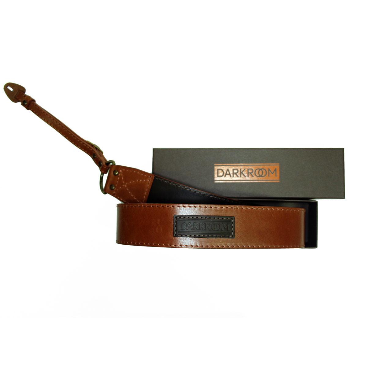 Ремень для фотоаппарата Darkroom 40мм кожа, универсальное крепление рыже-коричневый
