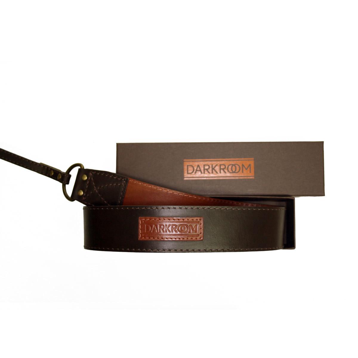 Ремень для фотоаппарата Darkroom 40мм кожа, универсальное крепление коричнево-рыжий