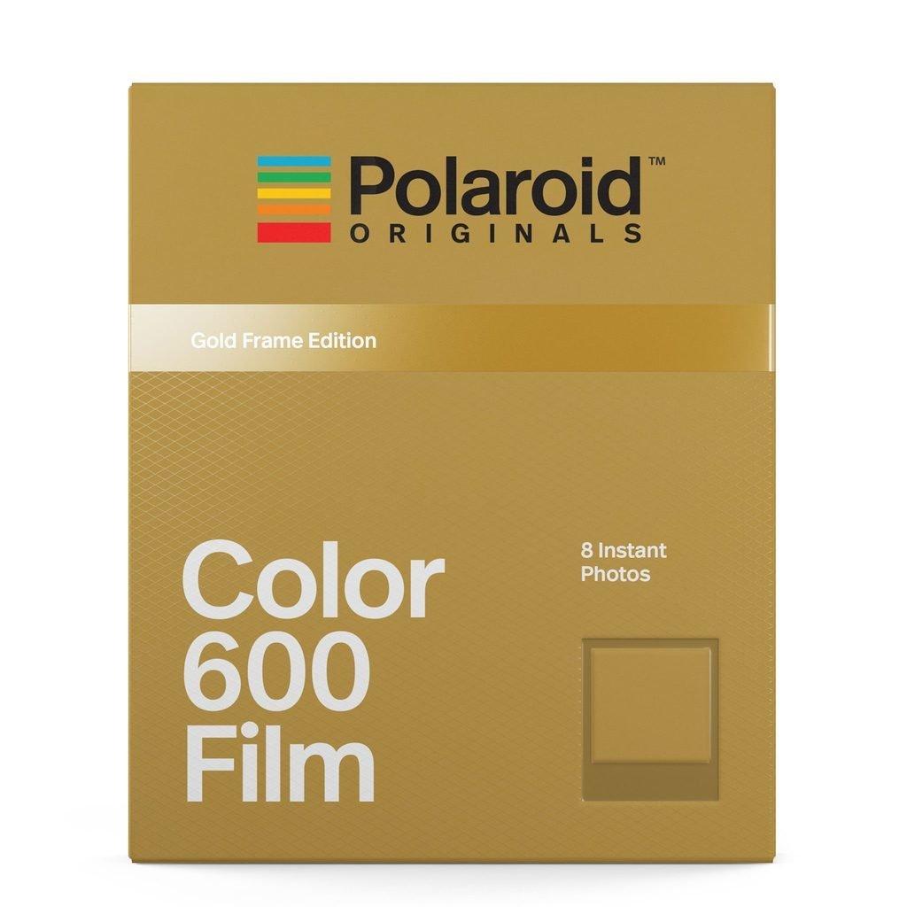 Кассета Polaroid Originals 600 Цветная / Золотая рамка ~ f608pocg