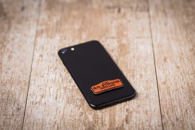 SD Strong Leather Phone Sticker