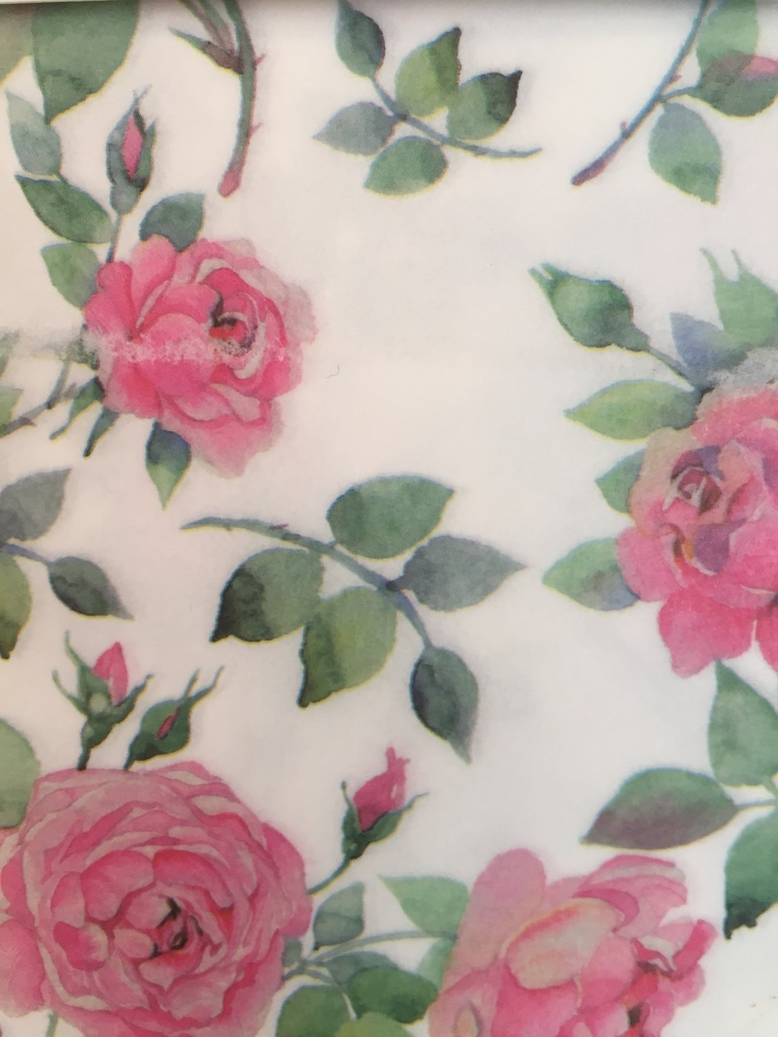 Decoupage Paper Bloom Of Roses
