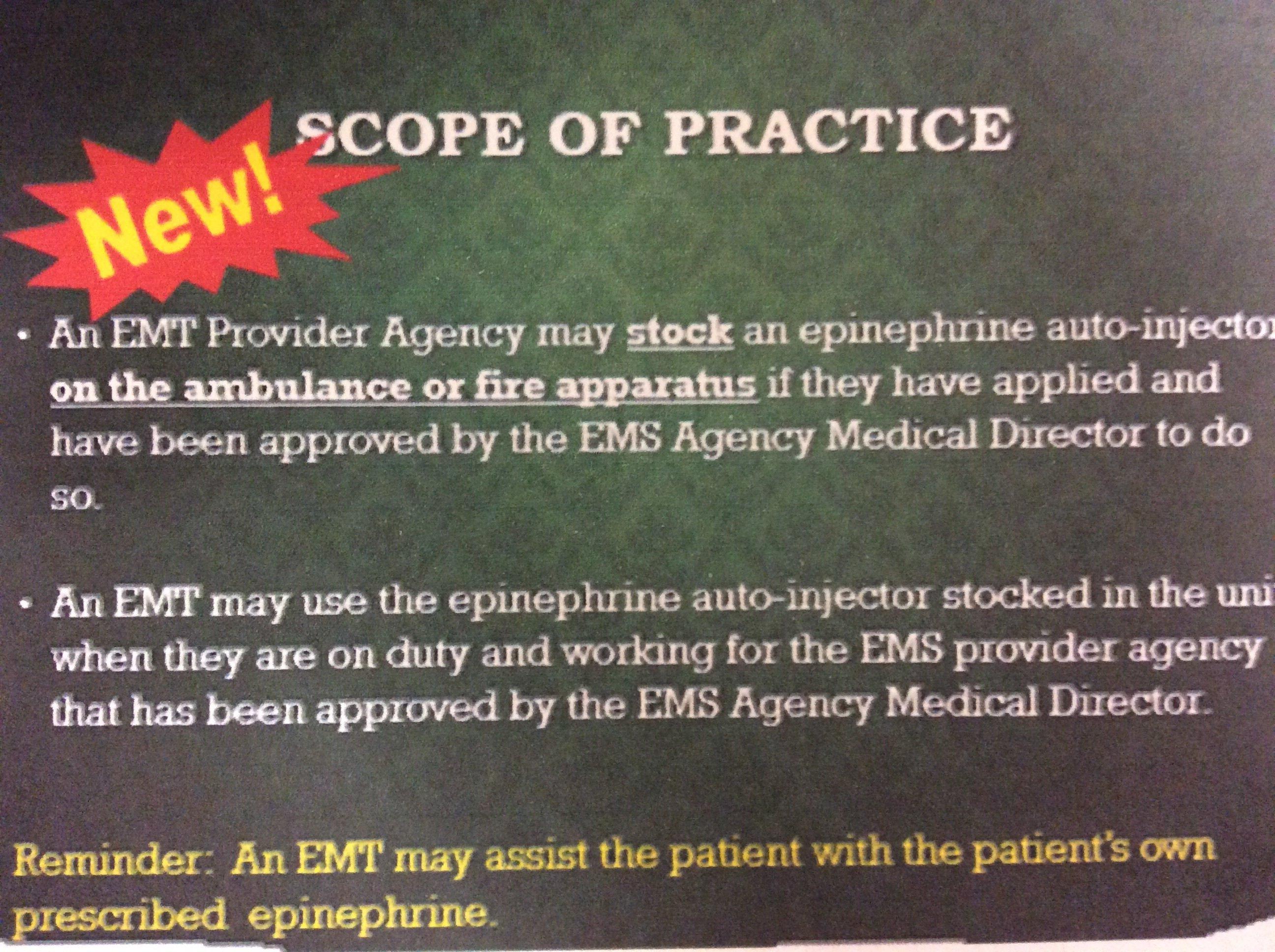 Mandatory Epinephrine and Naloxone Administration & Glucometer 00014