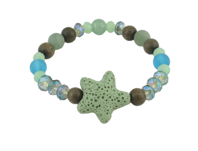 Essential Oil Bracelet | Starfish with Aventurine
