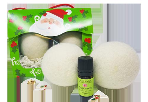 Wool Dryer Ball Essential Oil Gift Set