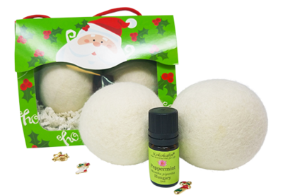 Wool Dryer Ball Essential Oil Gift Set