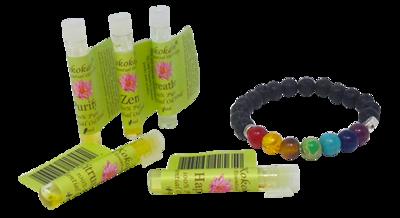 Chakra Essential Oil Bracelet Gift Set