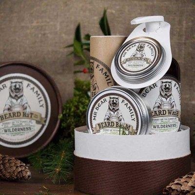 Mr Bear Family - Confezione regalo gusto Woodland (foresta di Pini) per Barba e Baffi