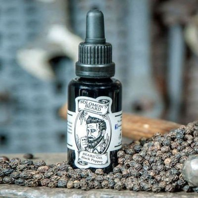 Solomon's Beard - Olio da barba Black Pepper 30ml.