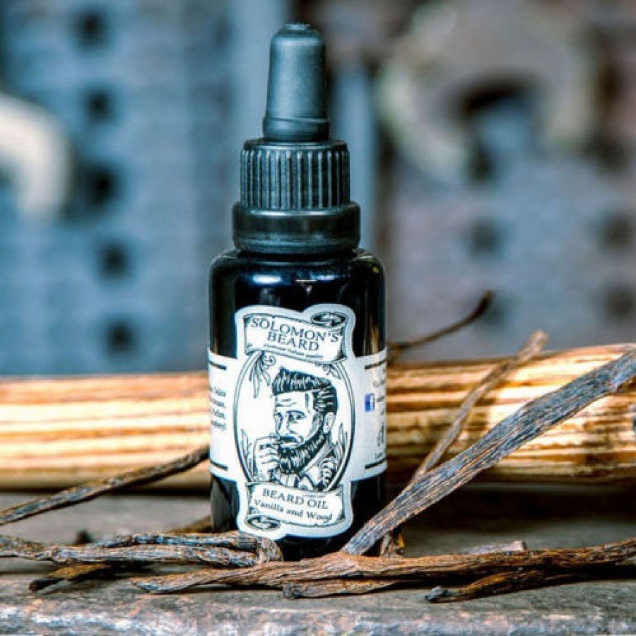 Solomon's Beard - Olio da barba Vanilla & Wood 30ml.