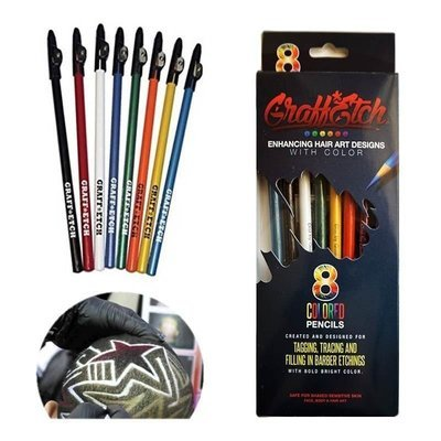 Graff*Etch - Matite colorate per Hair Tatoo e graffiti per capelli. 8pz.