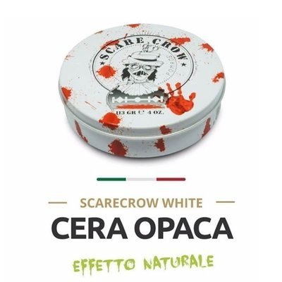 ScareCrow Pomade - Cera per capelli White effetto opaco. Tenuta media. 113 gr.