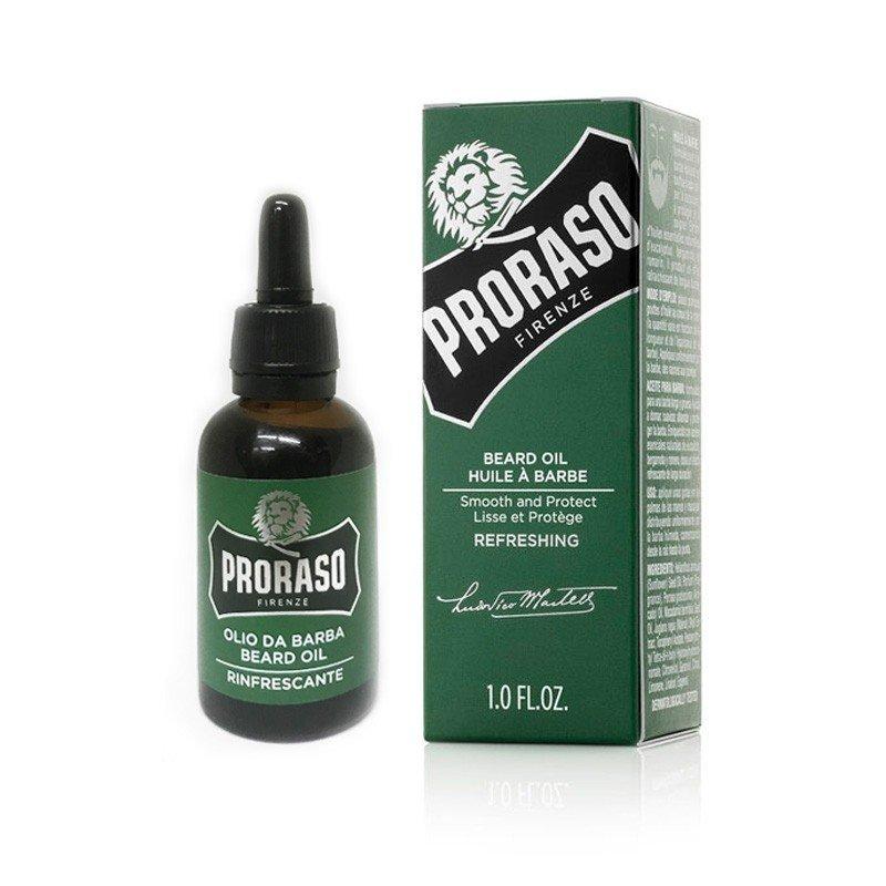 Proraso - Olio da barba rinfrescante Green 30ml.