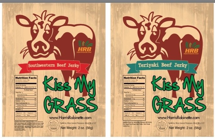 """Kiss My Grass"" Beef Jerky 2-Bag Variety Pack"