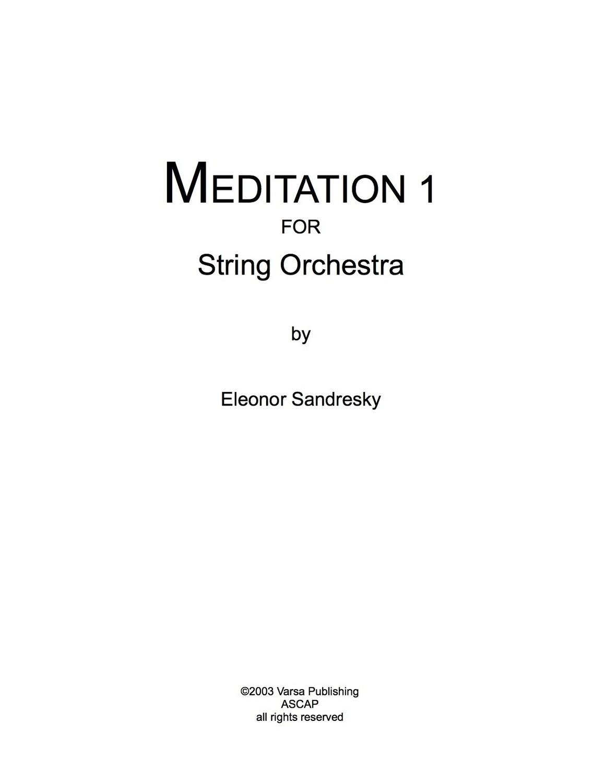 Meditation 1 for String Orchestra