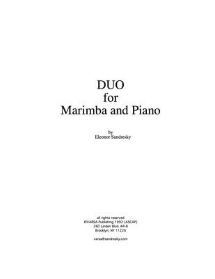 Duo for Marimba and Piano